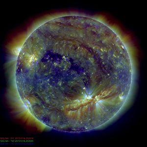 Image taken by the Solar Dynamics Observatory ...