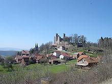 Dorf Rimbach mit Burgruine Hanstein