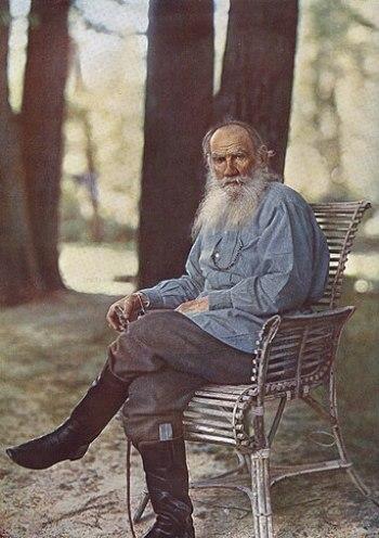 """""""Lev Tolstoy in Yasnaya Polyana"""", 19..."""