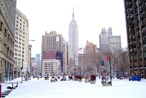 Madison Square 2010 blizzard