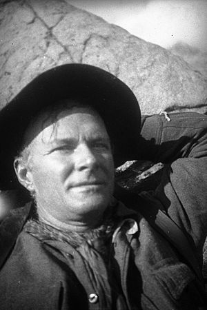 A photo of mountaineer Norman Clyde taken in t...