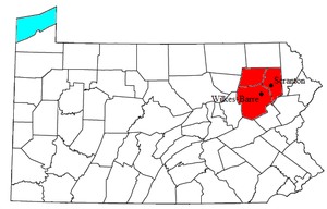 Locator map of the Scranton-Wilkes-Barre Metro...