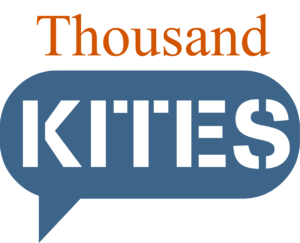 English: Logo for Thousand Kites, a non-profit...
