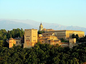 English: View of the Alhambra, Granada, Spain