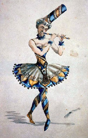 Vzevolozhsky's costume sketch for The Nutcracker.