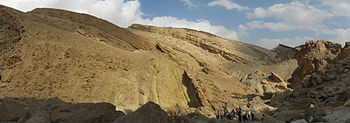 English: panorama of a wadi in the negev deser...