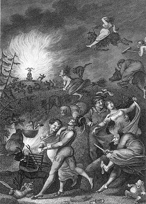 Walpurgis' Night, engraving after an illustrat...