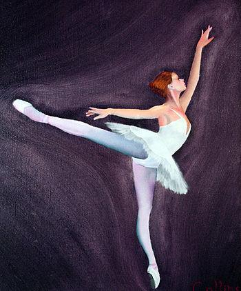 English: Ballerina oil painting
