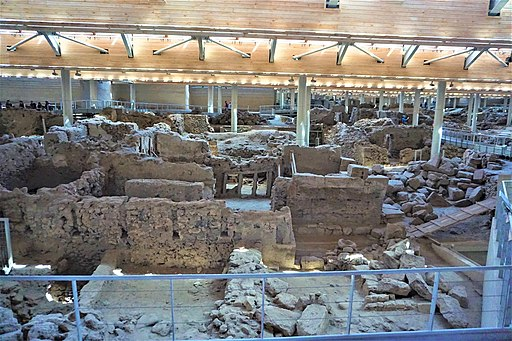 Akrotiri Archaeological Site in Santorini by Joy of Museums