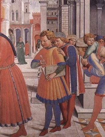 English: augustine at the school of tagaste