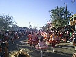 Bailarines en la Fiesta de La Tirana