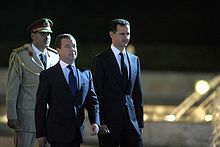 Bashar al-Assad with then-Russian President Dmitry Medvedev, 2010