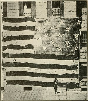 Flag that floated over Fort McHenry in 1814.