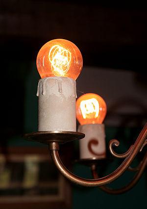 English: Incandescent light bulbs.
