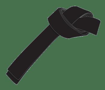 English: simple image of ICHF black belt denot...