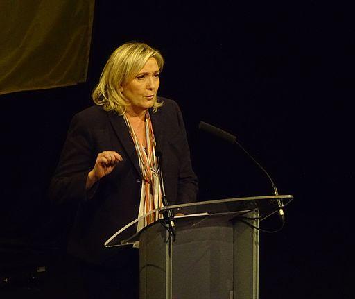 Lille - Meeting de Marine Le Pen pour les élections régionales, le 30 novembre 2015 à Lille Grand Palais (44)