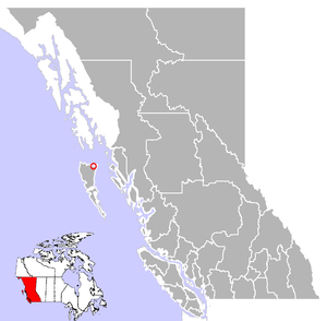 Location of Masset in British Columbia