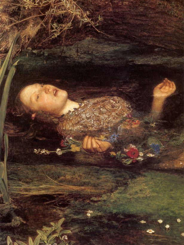 Millais - Ophelia (detail)