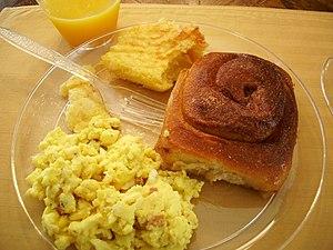 A breakfast.