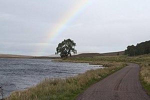 English: Rainbow over Lochindorb.