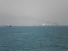 صورة معبرة عن ميناء رأس تنورة