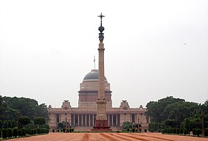 Rashtrapati Bhavan, the presidential palace in...