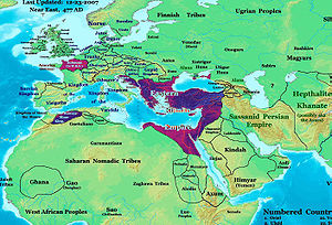 The Roman Empire in 477 AD.