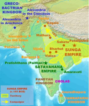 Patliputra as a capital of Sunga Empire. Appro...