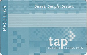 English: Transit Access Pass (TAP CARD)