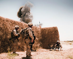 Marines conducting a controlled detonation of ...