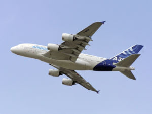 Airbus A380 F-WWOW performing display flight a...