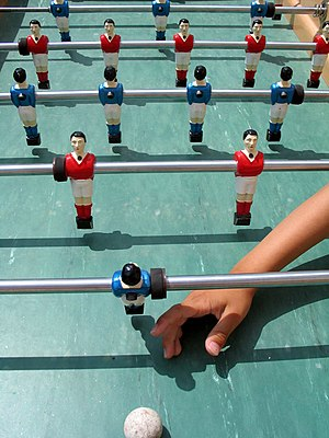 Table football (Bonzini style table).