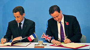 French President Nicolas Sarkozy and British P...