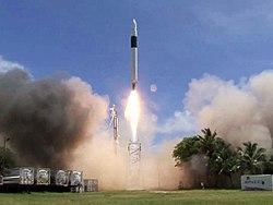 Falcon 1 rocket.