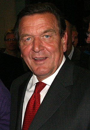 English: Gerhard Schröder (cropped from the or...