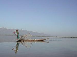 English: Fisherman on the Inle Lake.