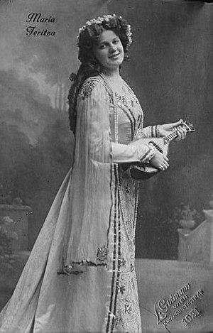 Maria Jeritza (1887 - 1982), Czech opera singe...