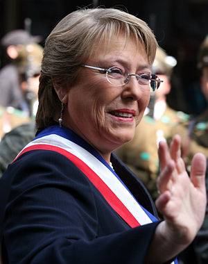 The President of Chile, Verónica Michelle Bach...