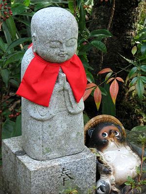 One of the tiny jizo statues in the Ohara nenb...