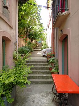 Path with small flats in Lyon