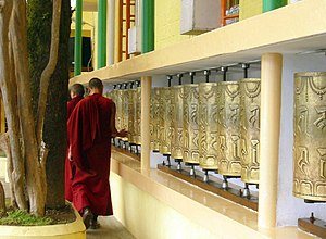 Prayer Wheels at Tsuglagkhang Temple, McLeod Ganj.