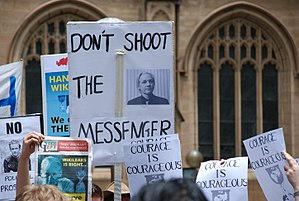 Demonstration in front of Sydney Town Hall in ...