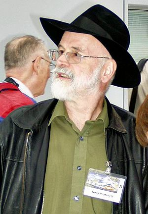 Terry Pratchett at Worldcon 2005 in Glasgow, A...