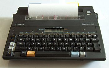Electronic typewriter - the final stage in typ...