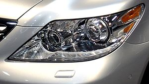 2010 Lexus LS 460 HID headlamp.