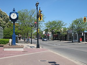 English: The photo is of Brant Street in downt...