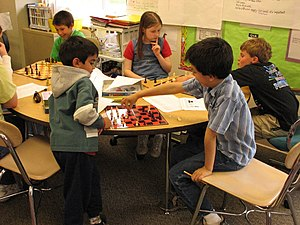 Chess Club at Sandy Hook School in Newtown, CT...