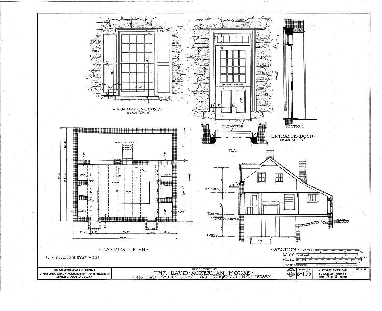 File David Ackerman Naugle House 415 East Saddle River Road Ridgewood Bergen County Nj Habs