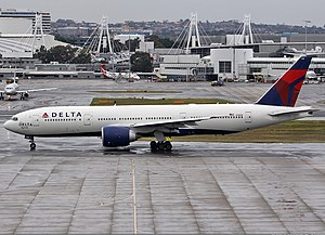 Delta Airlines Boeing 777-200ER at Sydney Airport