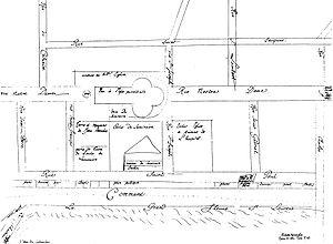 Français : Plan des rues de Ville-Marie en 167...
